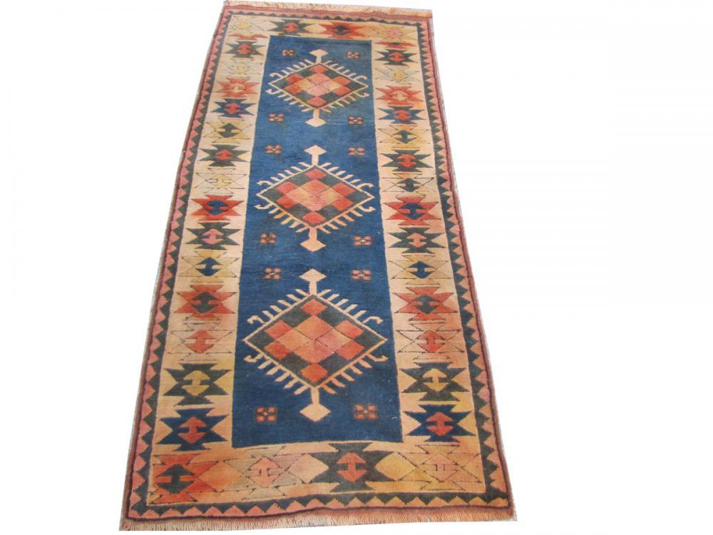 antique turkish rug kars 110x241 cm