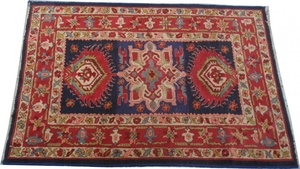 French antique carpet Janus point de Lys 103X146 cm