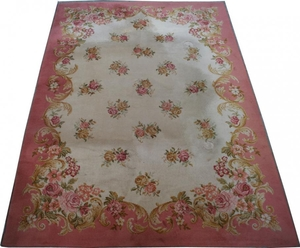 French antique carpet 200X287 cm