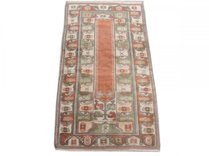 Antique turkish rug Melas 102X177 cm